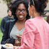 Mason students, faculty, and staff enjoy food from Brion's Grille at the annual Honors College barbecue. Photo by Bethany Camp/Creative Services/George Mason University