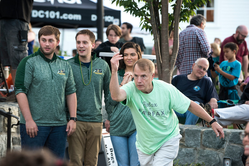 George Mason students, City of Fairfax officials, and the community come together to enjoy Rock the Block. (Bethany Camp/Creative Services/George Mason University)