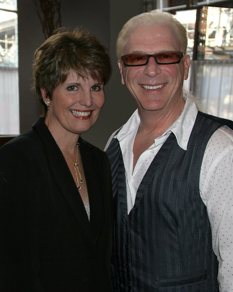 IMG_9405 Lucie Arnaz, Musical Director Ron Abel at the Tony Awards Eve Cocktail Party on June 6, 2009