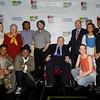 DDP11258 Laramie Project Student Cast, Carmen Farina NYC Schools Chancellor, Alex Brightman, Philip Smith, Michael Sovern