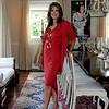 59-- red dress standing
