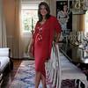 78-- red dress standing