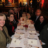 NYSD's contributors at a holiday luncheon at Swifty's <br /> (left side) Jeannie Lawrence, Alex Lebenthal, Jesse Kornbluth,Hilary Geary Ross, Charlie Schelps, (right side) Sam Dangremond, Gail Karr, David Patrick Columbia, Sian Ballen
