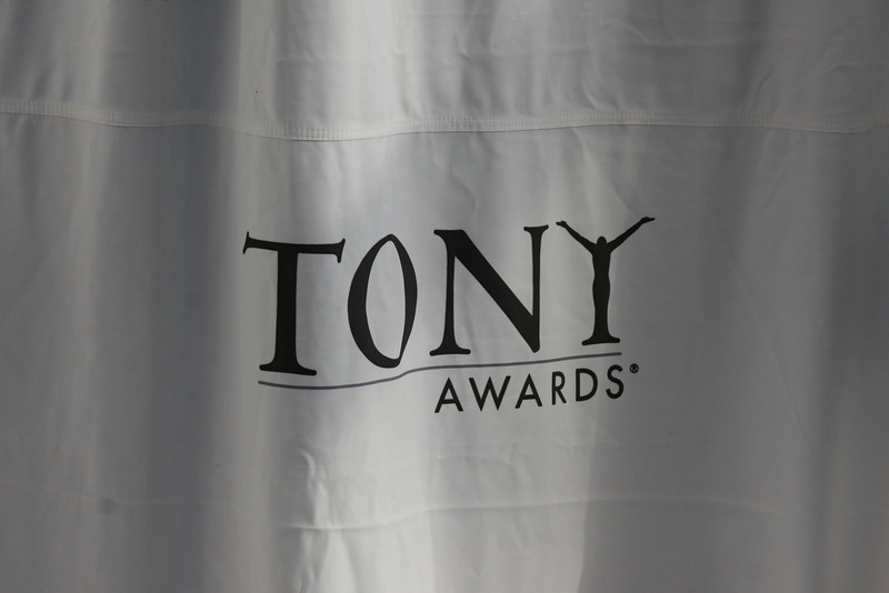 "The Tony Award's ""step-and-repeat"""