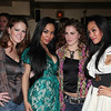 Carrie Stickle Ariemma, Designer To-Tam Ton-Nu, Recording Artist Candi Lynn, Designer To-Nya Ton-Nu attend Fete De Forty --Celebrating the 40th Birthday of Tia Walker