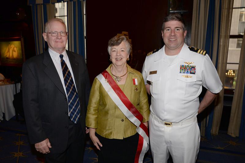 DSC_3799- Bud Jones, Linda Brown-Jones, Jamie Godwin, commanding officer of Yale Naval ROTC