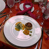 0052a-First course - Blue crab cake with tropical mango relish, avocado and pineapple citrus frisee