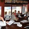 DSC_1076--Ann Marie DeAngelo listens to Alexander J   Dubé conducting a board meeting