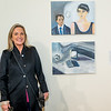 "5_DPL5971Claudia Baez in front of her paintings ""Last Year at Marienbad"""