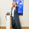 """4_DPL5888 Rachel Hovanian in front of her video installation """"Foreplay"""""""