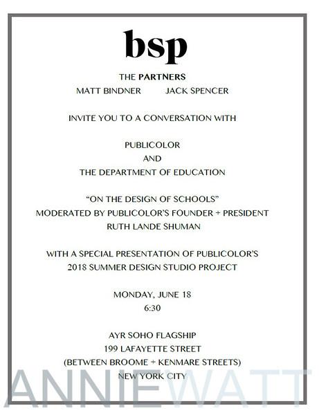 _01 The Design of Schools invitation