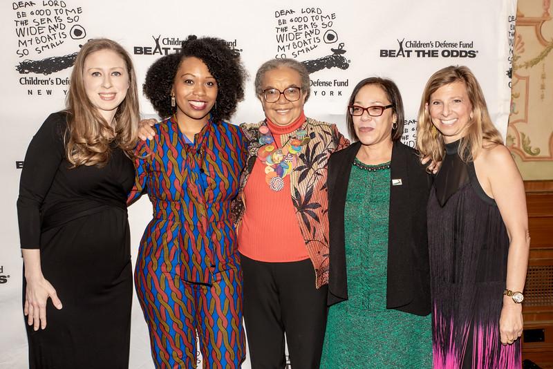 AWA_1099 Chelsea Clinton, Shekhinah Bass, Marian Wright Edelman, Naomi Post, Leslie Cornfeld