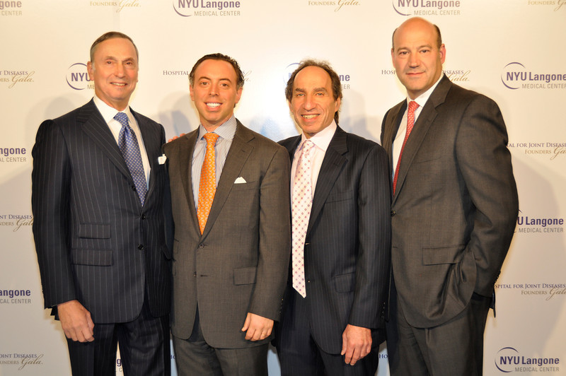 _DSC0914-Robert I Grossman, David Fiszel,  Dr Andrew Rosenberg, Gary D Cohn