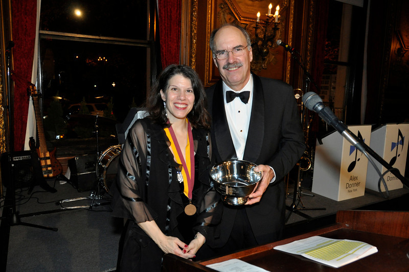 --President Caroline Camougis, Honoree Charles Kittredge