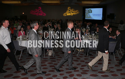 Winners walk to the stage At the 2014 Fast 55 -