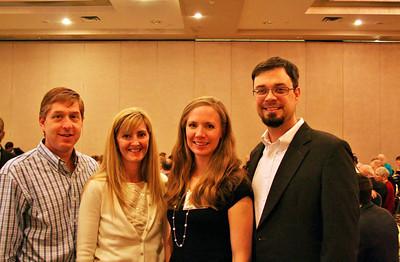David and Nicole Greenfield, Sarah and Russ Long