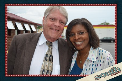 Ray Williams (Q105) and Georgine Jones