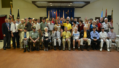 The WWII honorees and event sponsors