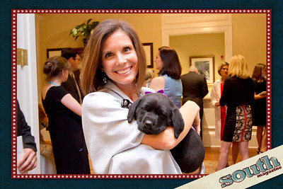 Tricia Yates and auction puppy