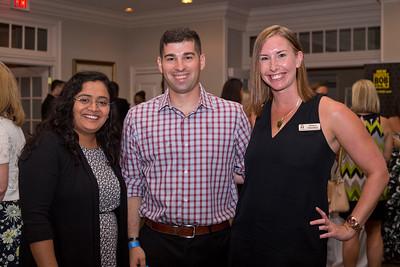 Umddhi Patel, with Erik and Allison Hamilton