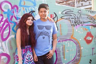 Isabella Salas and Damian Hernandez