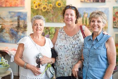 Caroline Carver, Valerie Belcher, and Brigitte Cavan