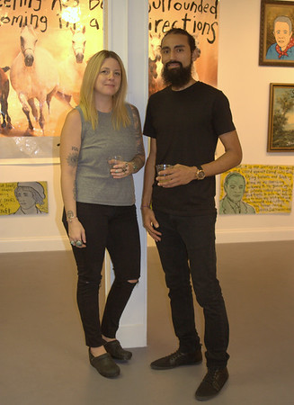 AJ Perez Co Owner and Kelly Hagemes Artist