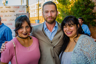 Jessica Quinto (MUA}, William Mark McCullough(Actor), and Lydia Brooks (Buisness Manager)
