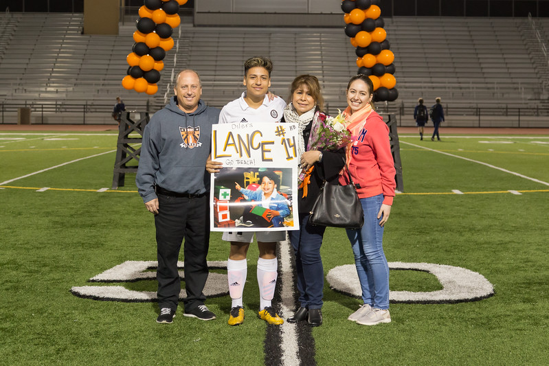 Boys Soccer Senior Night 2017-18