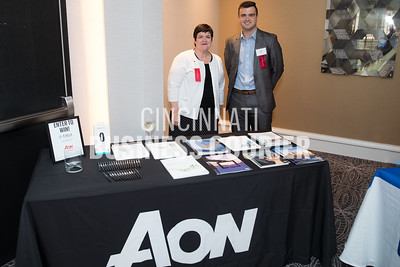 Joy Teremi and  Sam Reilly w/ Aon