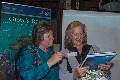 Vickie Weeks, Executive Director of Gray's Reef NMS Foundation, & Cathy Sakas Happy Birthday Cathy Sakas