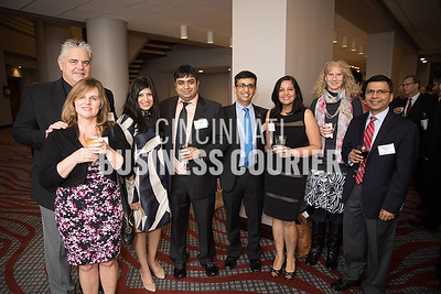 Russell and Kim Hoffman, Silvi and Prasoon Verma, Dr. Amit and Sumita Govil w/ University of Cincinnati Medical Center, Janet Boyle and Charuhas Thakar