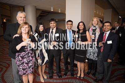 Russell and Kim Hoffman, Silvi and Prasoon Verma, Dr. Amit and Sumita Govil w/ University of Cincinnati Medical Center, Janet Boyle and Charuhas Thakar