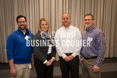 Drew Warmin, Tina Baumann, Brian Wendel and Tom Tweedlie with Kroger Manufacturing State Avenue