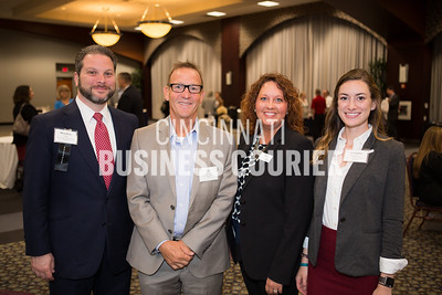 Brendon Cull, Stu Scheller, Tarah Cook and Veronica Ruschman with Cincinnati USA Regional Chamber