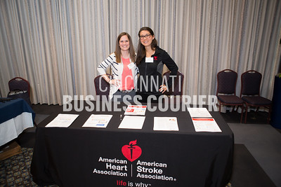 Blaire Kappes and Katie Flashpohler with American Heart Association