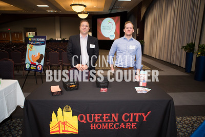 Aaron Stapleton and Jake Fleckenstein with Queen City Homecare