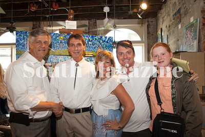 Mayor Deloach, Artist Jim Cone, Cecillia Russo Turner, Ruel Joyner, & Rider Joyner