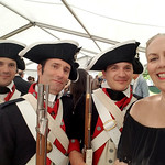 x_09 American Revolutionary War soldiers at the Franco-American Museum of the Ch�teau de Bl�rancourt