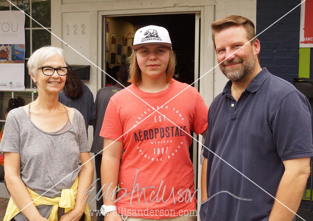 Artist Kerr Grabowski, Nick Berden and Britt Berden