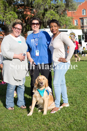 Laura Whetherly, Karen, Kesha Gibson-Carter, and Lizzie the Dog