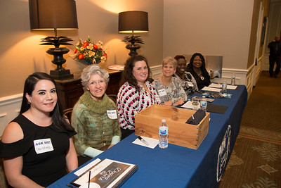 The ladies of registration  Christina Martina, Carolyn Smith, Jennifer Weatherly, Sallie McClelland, Anike Futch, Yvonne Rufus