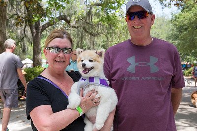 Bill and Patty Weisenberger with their dog Aja