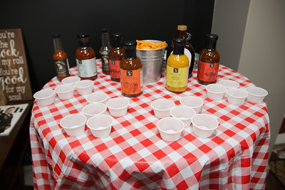 Delicious branded BBQ sauces for sampling