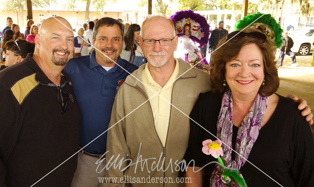 L to R.   BSL Councilmen Gene Hoffman and Gary Knoblock, Mayor Mike Favre and TIsh Williams, director of the Hancock Chamber.