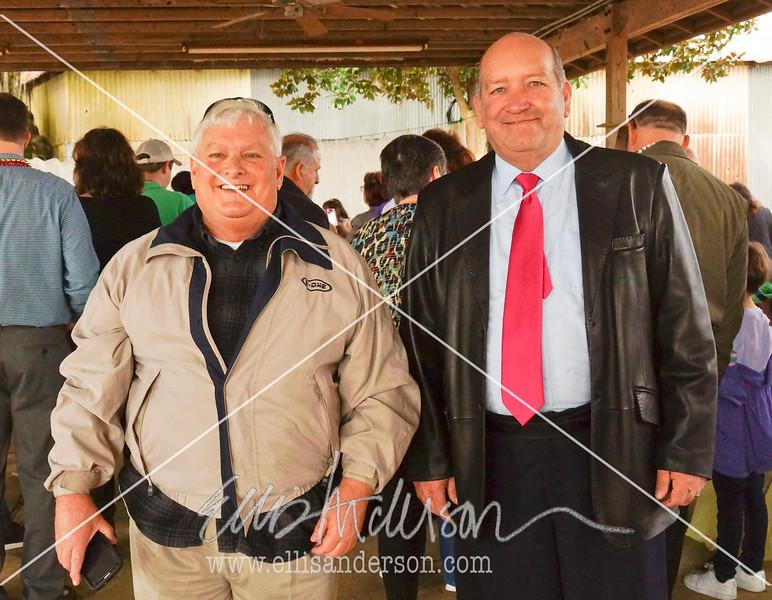 Former Waveland mayor David Garcia and current Waveland mayor, Mike Smith.