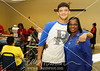 Tré and Florence Jordan. Florence heads up the blood drive and 16 yo grandson Tré volunteered to give blood for the first time.
