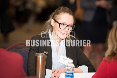 Meggie Bailey of 1628 Ltd. listening to mentor