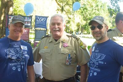 Jeff Harris, Sheriff John Wilcher, and Steve Lowry