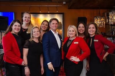 The Bohemian Hotel Sales Team, including Leslie Harben, Kelly Pristell, Krysti Favorite, Jessica Bernhardt, Michael O'Saughnessy